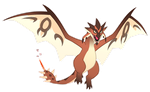 Rathalos - Pokemon style by macawnivore
