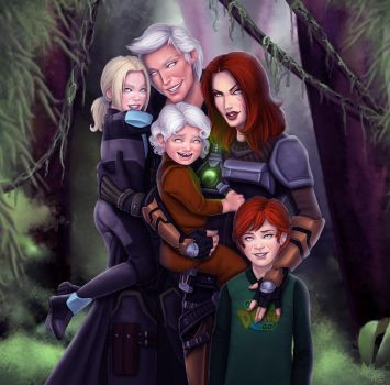 SWtoR - Commission - Family Day by JoJollyArt