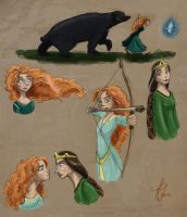 Merida and Mum (Colored) by kuabci