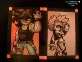 Rival Heroes Sketch Cards: set nine by suicidalassassin