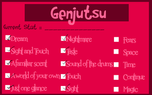 HSV Kori's Stat: Genjutsu by Almost---There