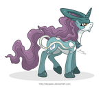 Suicune Ponikemon by MySweetQueen