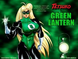 Tetsuko as 'Green Lantern' by DavidCMatthews