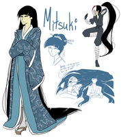 AMNT: Leo's Wife - Mitsuki Concept Sketches by RouletteSimone