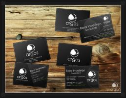 Argos logotype  businesscards by lecoupdulapin