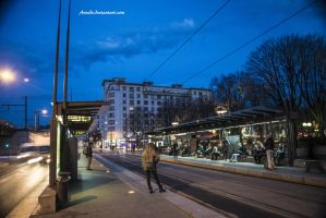 Tramway Station by Aneede