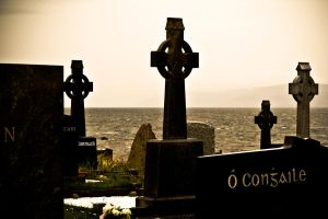 Co. Galway country cemetery by Obikiller