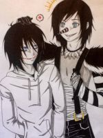 Jeff the Killer and Laughing Jack by ADeadSmile