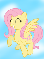 Happy Fluttershy ^_^ by wolfishmeow