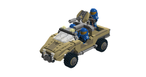 LEGO Halo - M12 Warthog LRV by Aryck-The-One