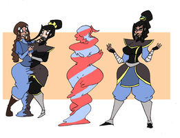 Water Tribe and Fire Nation Fusion by Da-Fuze