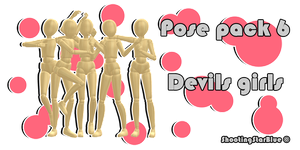 Pose pack 6 - Devil girls by ShootingStarBlue