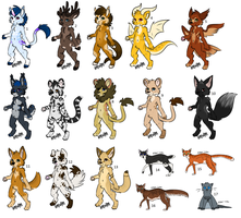 Mixed Adoptables - Closed by xChesires-OCsx