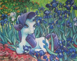 Rarity Among the Irises by Sunset80