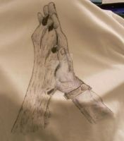 wolf paw and humen hand by inuyasha666hiei