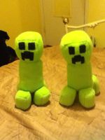 Minecraft Creeper Plushies by TheEccentric-1