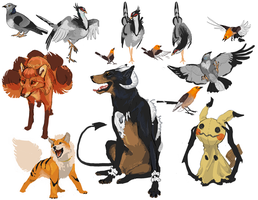 mecha pets by Sourful