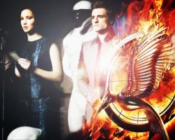 The Hunger Games: Catching Fire. Katniss and Peeta by StalkerAE