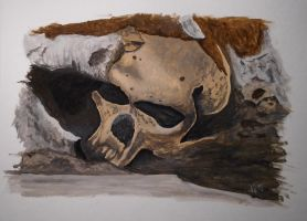 Dirty skull by lomartistic