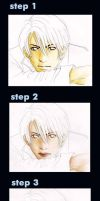 step using pencil colour by depinz