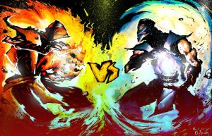 scorpion vs subzero by Goretoon