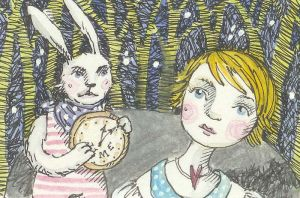Alice and the white rabbit by firejay