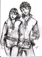 Kel and Dom - Tamora Pierce by carliscrazy
