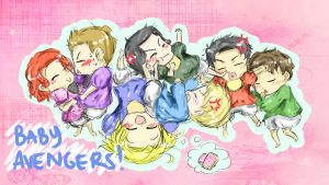 The Avengers as Babies by VanyllaCoffi