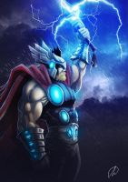 THOR_BOCETO A COLOR by TheMonkey-DavidLanza