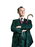 Mycroft Holmes Digital Painting by rebeccaholmes