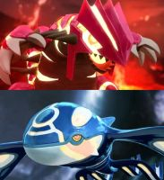 Primal Groudon and Primal Kyogre! by sonichedgehog2