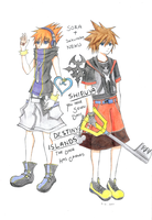 Kingdom Hearts X TWEWY by jelli-chan