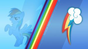 Rainbow Dash CM Wallpaper by Bardiel83