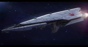 Star Wars Nebulon C Frigate (free model DLC) by AdamKop