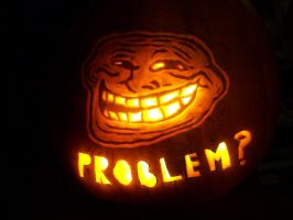 Cool Face Pumpkin by YXZY