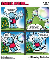 New Webcomic: Smile More Blowing Bubbles by RealSmilingBear
