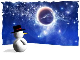 Snowman Christmas card by rlcwallpapers