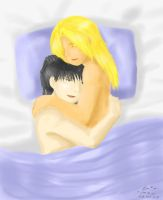 EdxRoy - cuddling before sleep by ChibiEdo