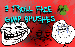 Gimp Troll Faces by nikkinova123