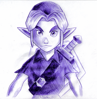 Majora Link Sketch by BlueLink