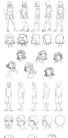 Fluke Character Sketches by ZombieKate