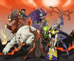 Warcraft Girl Power by virgiliArt