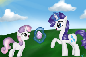 Rarity and Sweetie Belle - Easter by AboveSpace