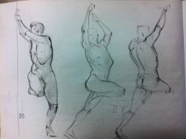 Life Drawing practice #1 by Jenova94