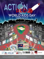 ActionRED World AIDS Day poster by JeffreyHamesGallery