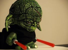 Darth Yoda Custom Munny by VILORIA-ARTS