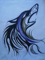 The Moon of the Wolf Tribal by theblackalma13