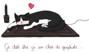 A graphiste cat ! by Little-Roisin