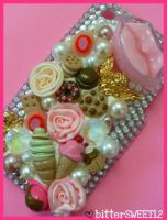 Sweeet Deco Iphone 3G Case by bitterSWEETones