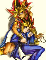 Atem.Yami:King of Egypt+Games by CupidYamiVolta